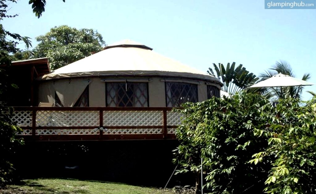 image of yurts in hawaii for rent, perfect for the best relaxing vacations in the world