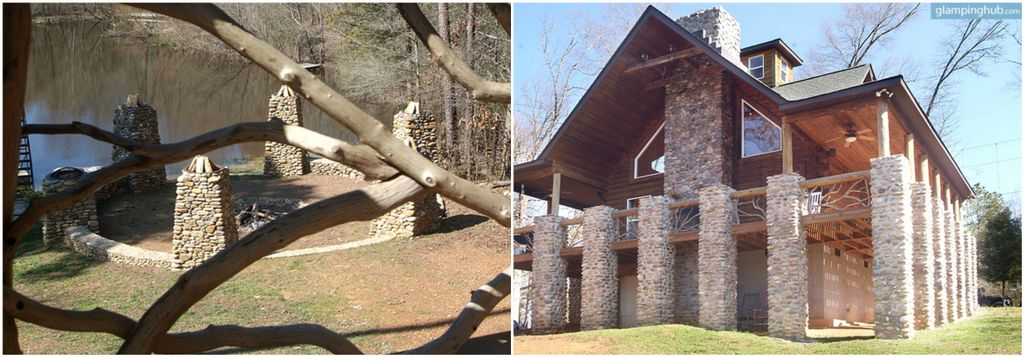 Family lodge in North Carolina where fun family camping games can be enjoyed