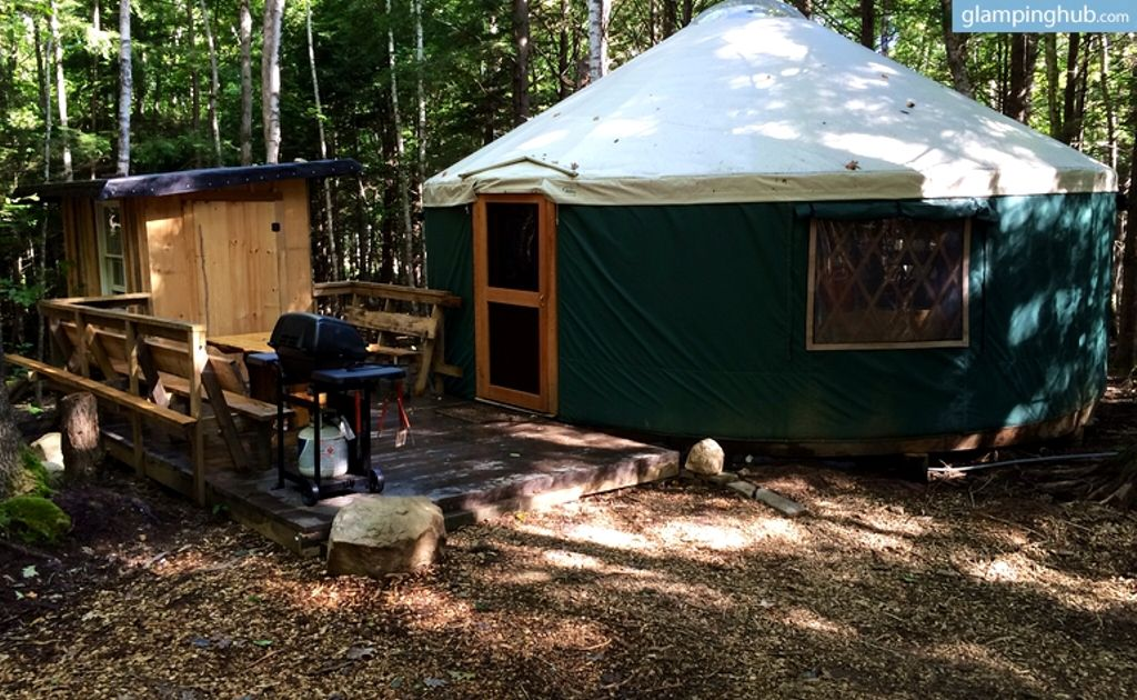 book luxury yurt, for east coast road trip ideas