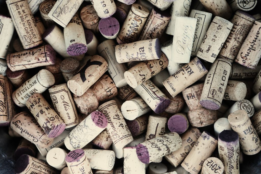 corks from the best wineries in Napa Valley