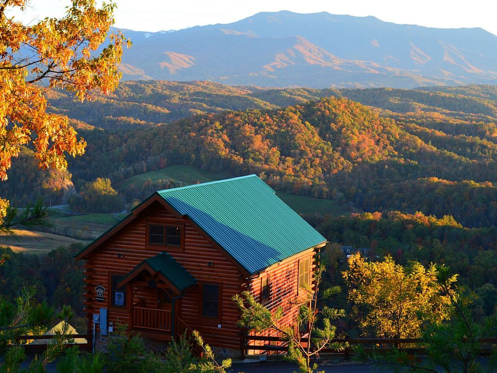 view of cabins in pigeon forge tn and one of the best gifts for people who love to travel this Valentines Day 2020