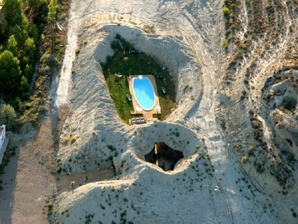 aragon cave rentals view from the sky during NYE celebrations
