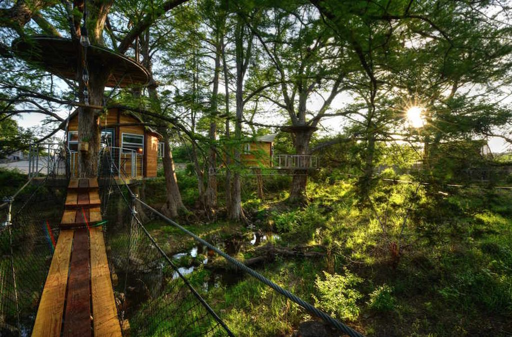 view of the best tree houses in texas near austin and somewhere to find festive present ideas for outdoorsy people