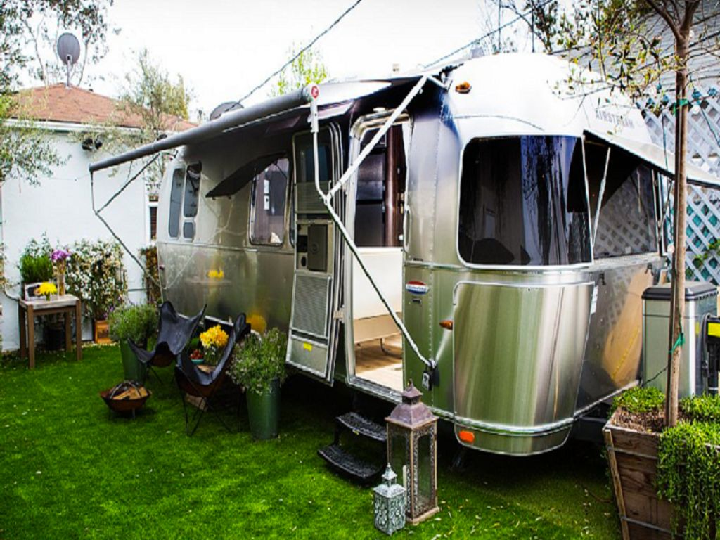 luxury airstream and one of the best places to go camping for travel gifts for men