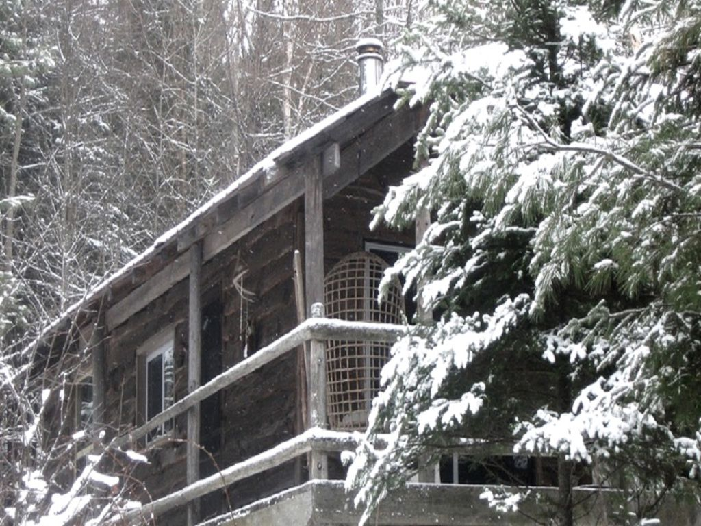 one of the snowy Huntsville camping cabins perfect for glamping near Toronto