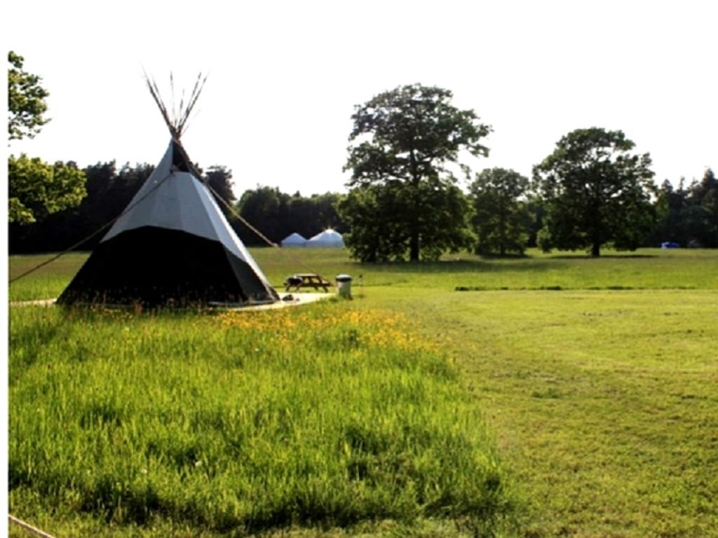 places to go on a rainy day with kids: tipi camping, Yorkshire