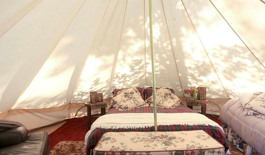 Luxury tent rental in Asheville, North Carolina for an East Coast road trip.