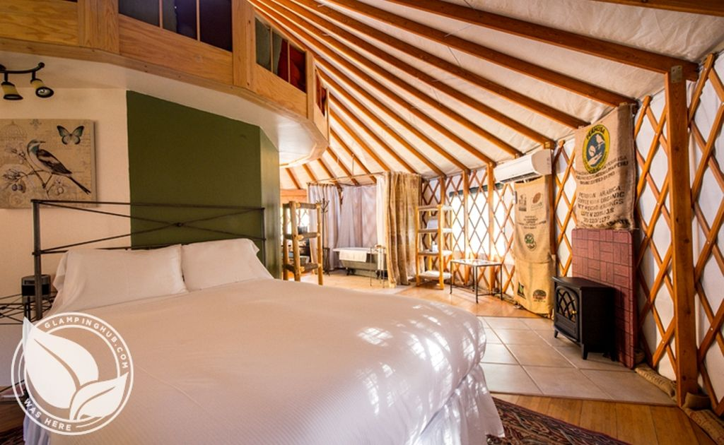 interior of yurt rentals NC, perfect for romantic spring vacations