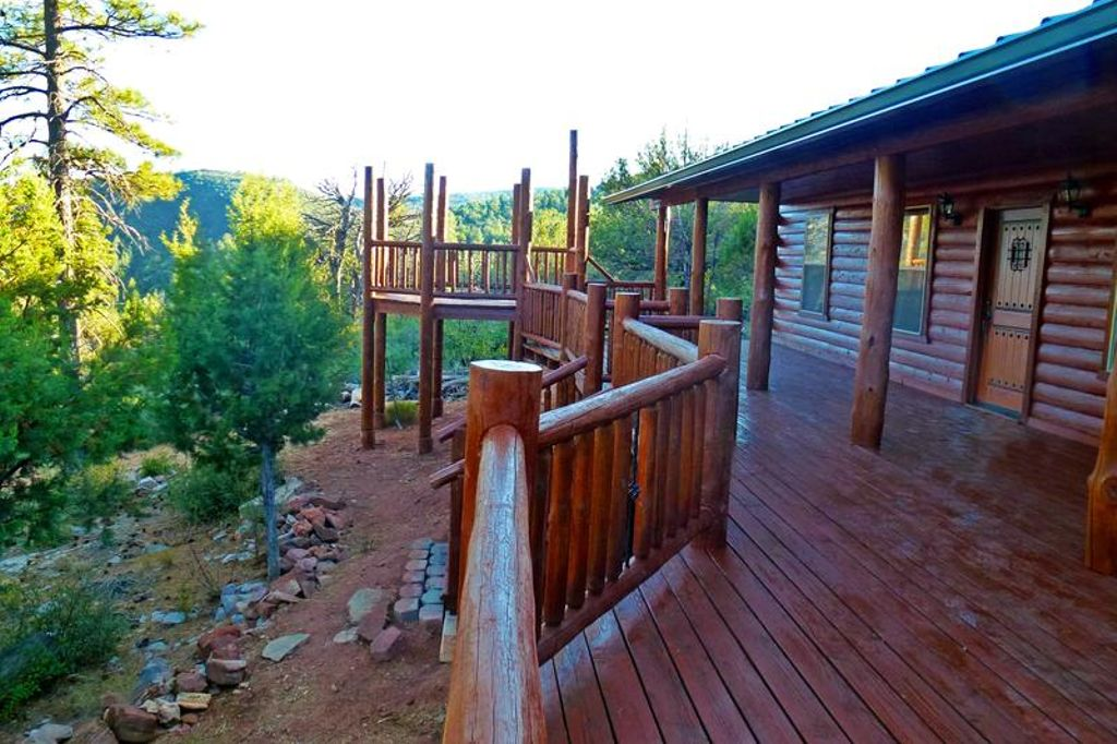 View from one of the best cabin rentals near Phoenix for luxury camping in Arizona
