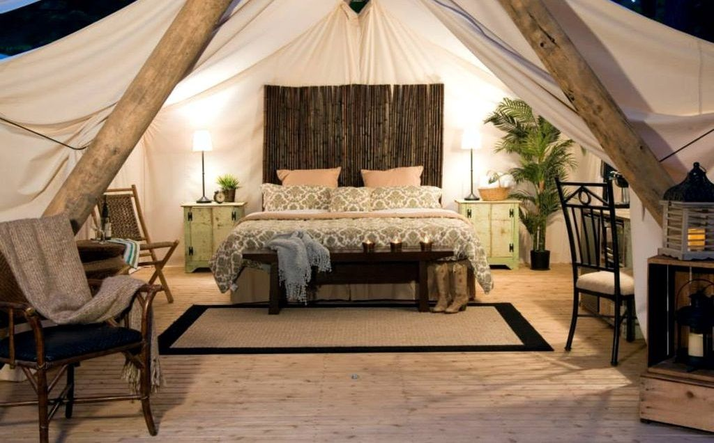 Stay in a safari tent for a Valentine's Day getaway, 2020
