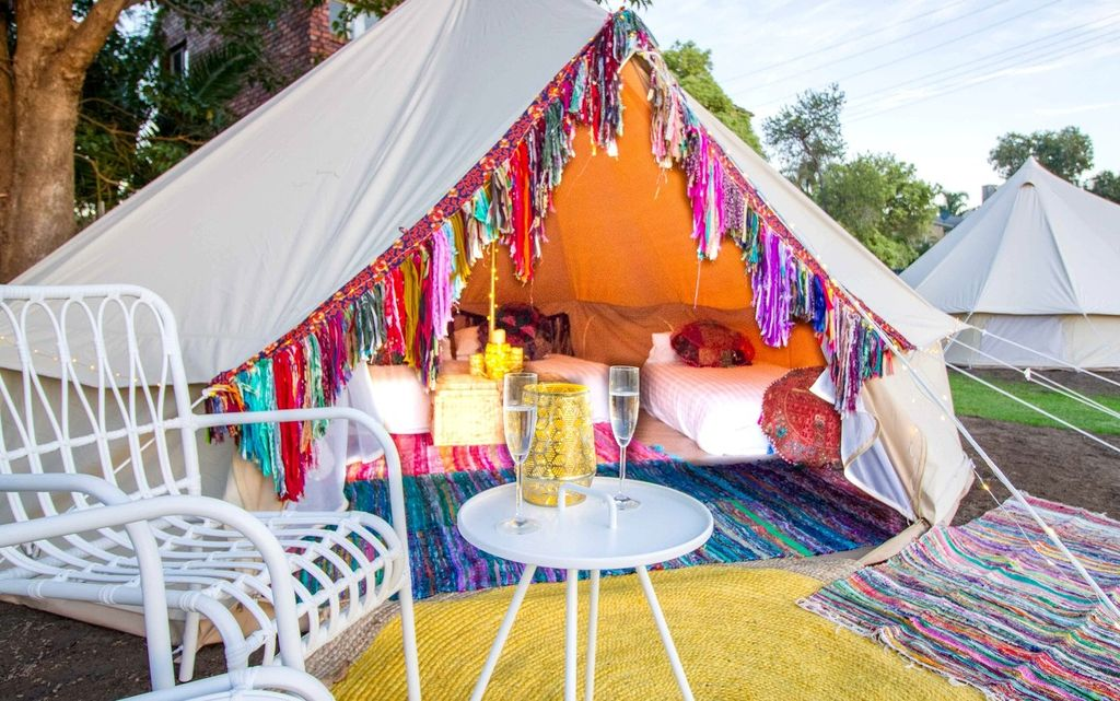 Bell tent in New South Wales.