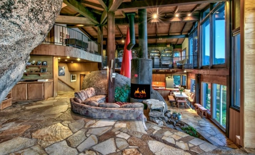 interior of modern Lake Tahoe cabin rentals CA, for best glamping examples and where to go for Mother's Day