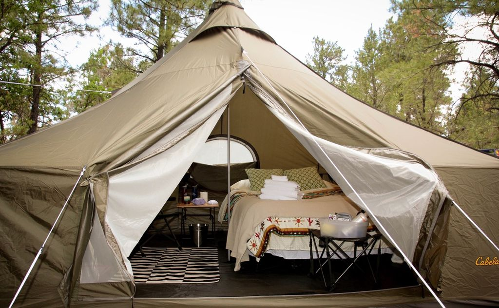 One of the luxury tent offerings of this property in Arizona.