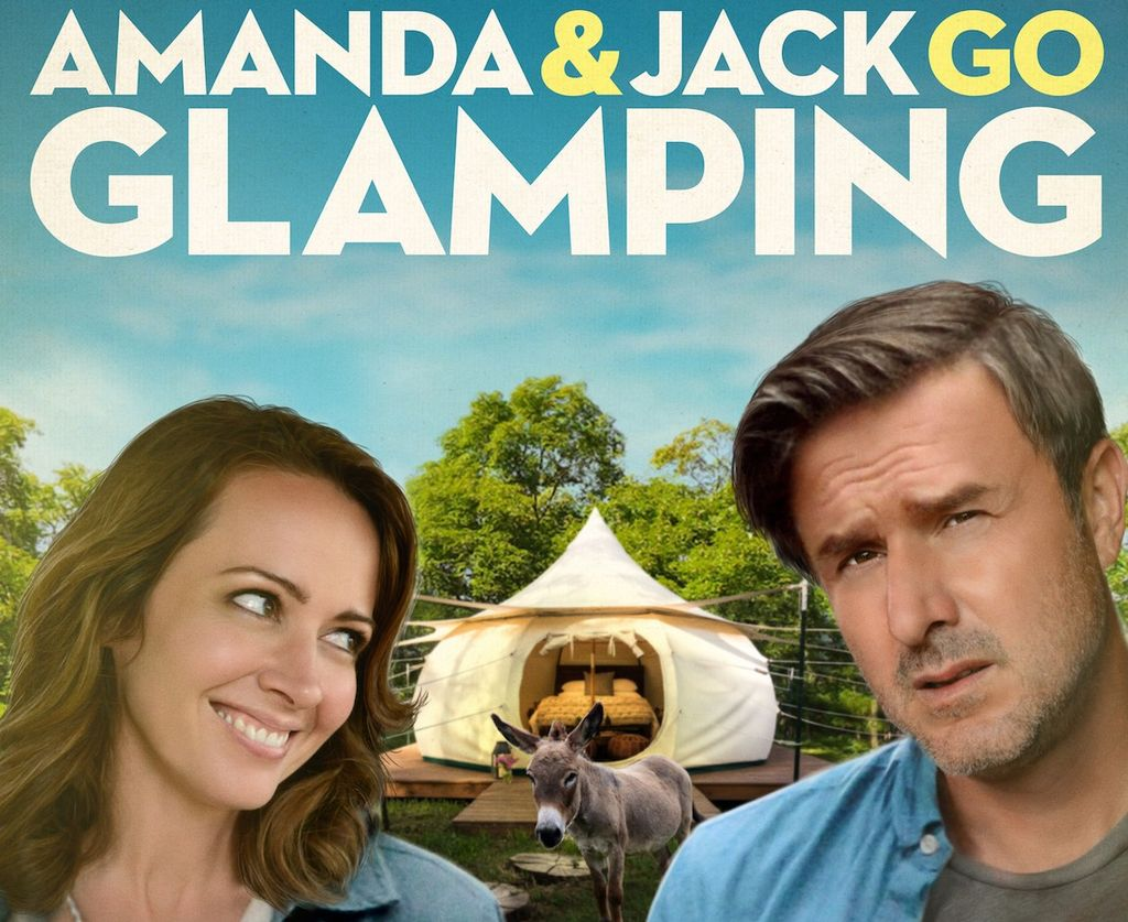 "The movie poster for ""Amanda and Jack Go Glamping."""