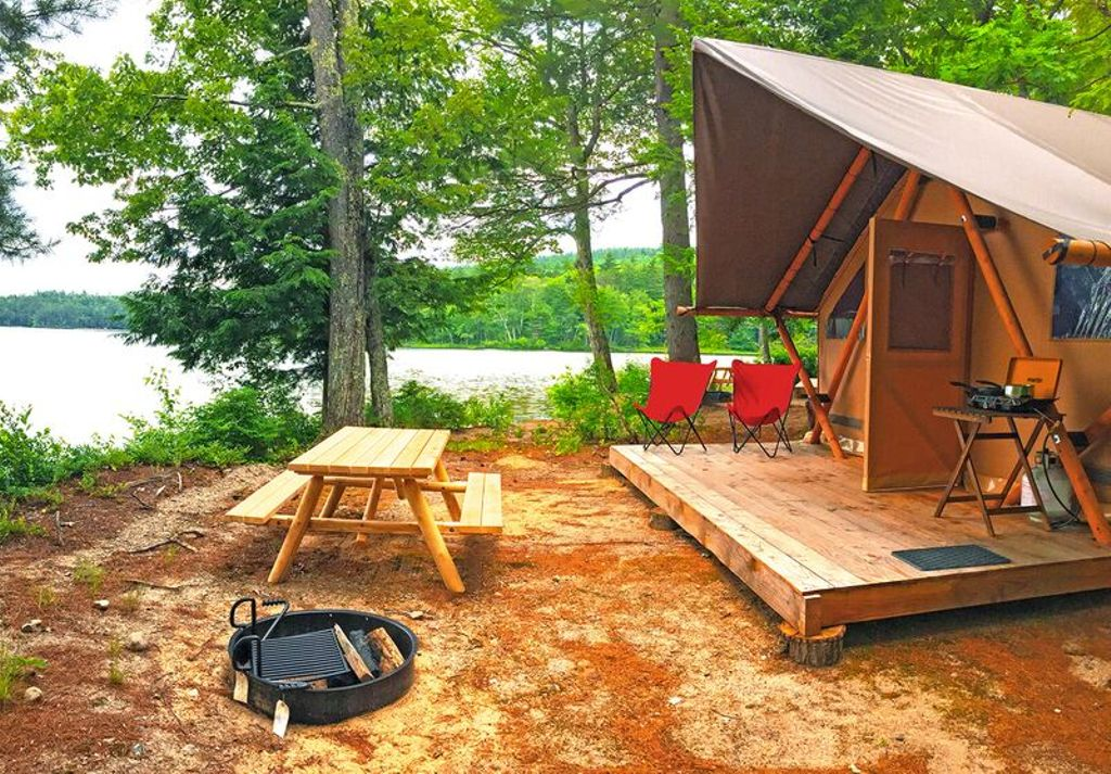 Luxury Tent for Camping in the White Mountains of Conway, New Hampshire