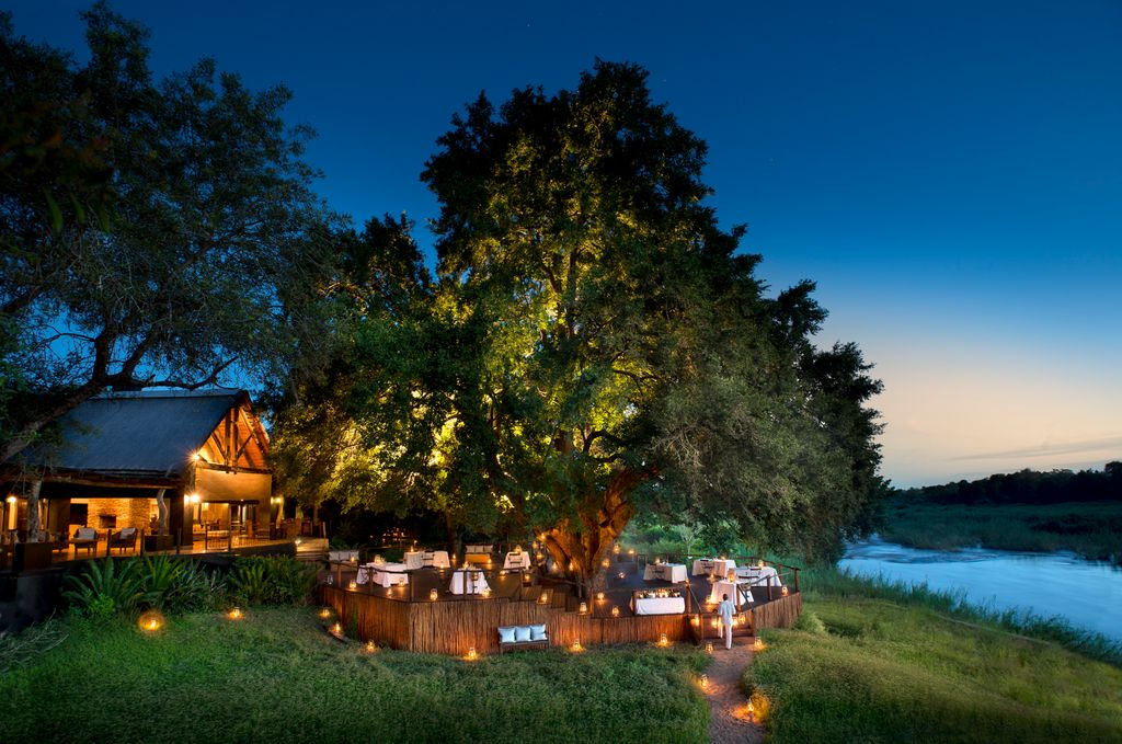A view from the exterior of these luxury vacation rentals near Kruger National Park.