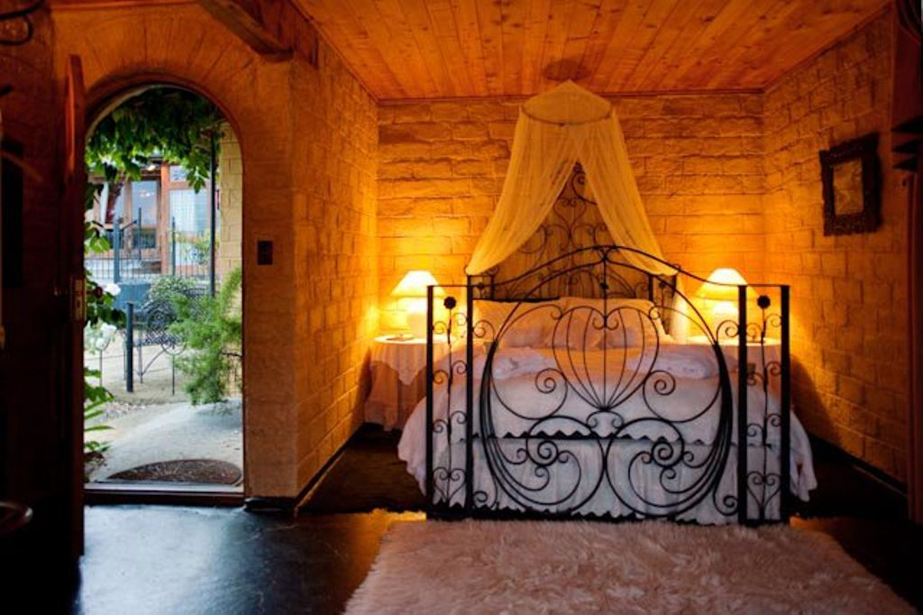 One of the many beautiful bedrooms inside the castle.