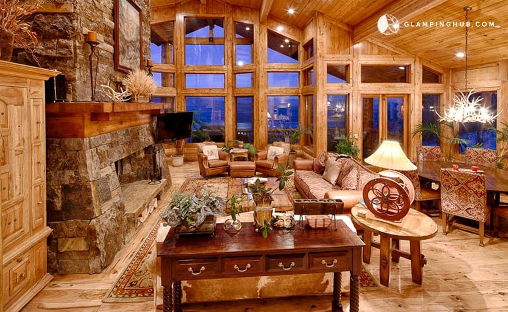A shot of interior of Park City vacation rental, Utah camping in luxury awaits