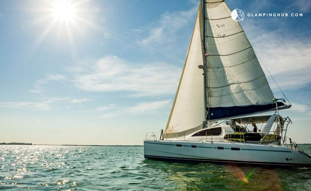 This is a photo of a catamaran in Key West, Florida.