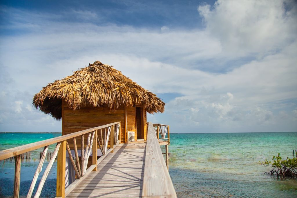 Belize huts on water perfect for summer glamping outside the US