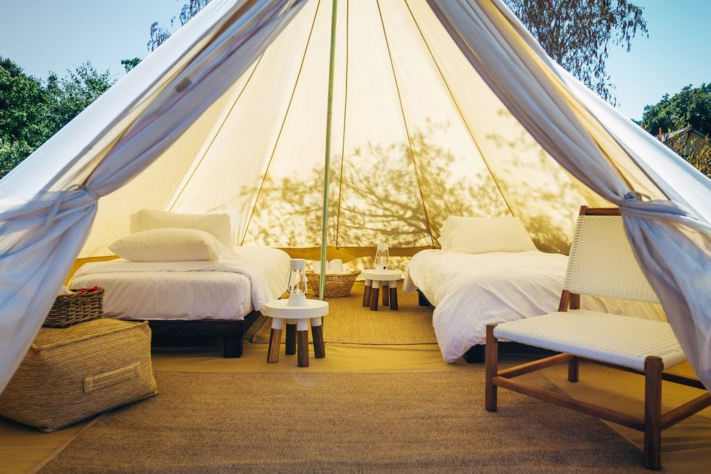 deluxe bell tents and San Francisco vacation rentals for summer glamping