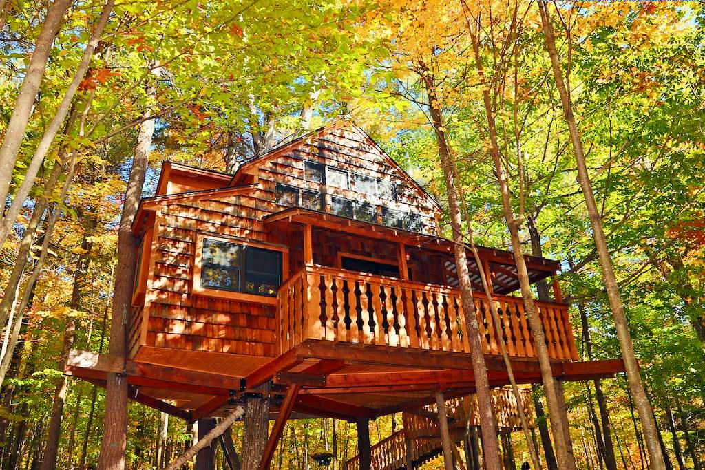 A tree house in New Hampshire