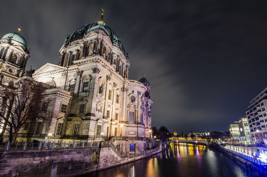 Image of Berlin and Germany's famous capital during Halloween celebrations