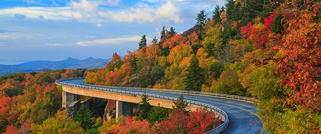 scenic drive in Virginia and one of the best fall glamping destinations