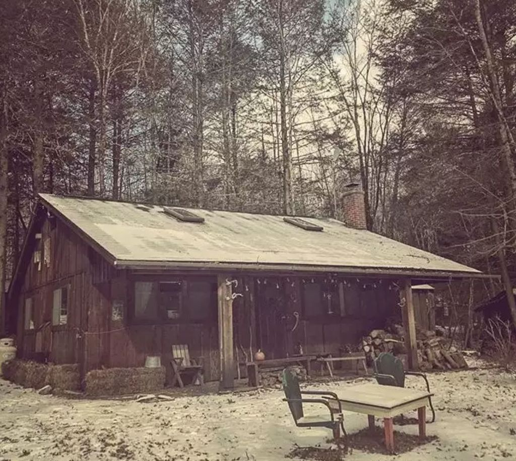 A spooky cabin in Upstate New York.