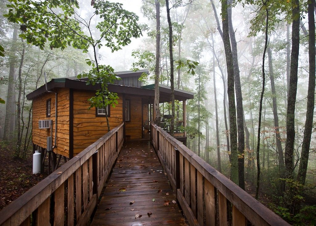 A cabin in the woods near Monteagle, Tennessee.