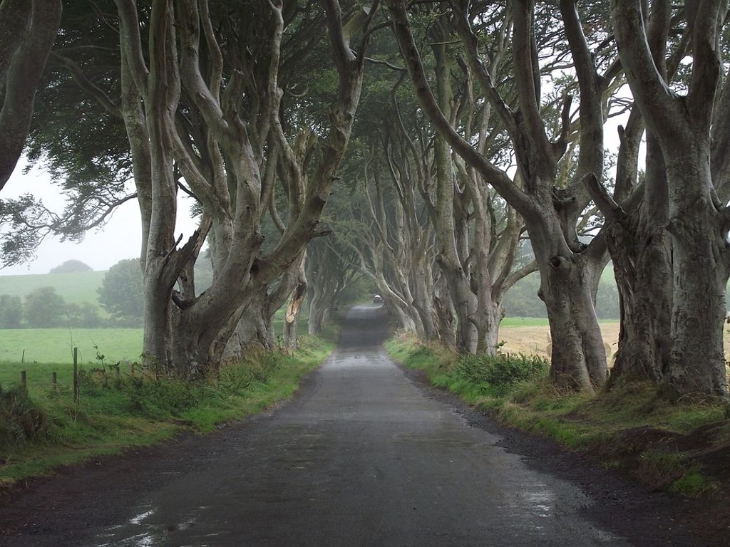 famous road in Derry, Northern Ireland: one of best places for Halloween family holidays