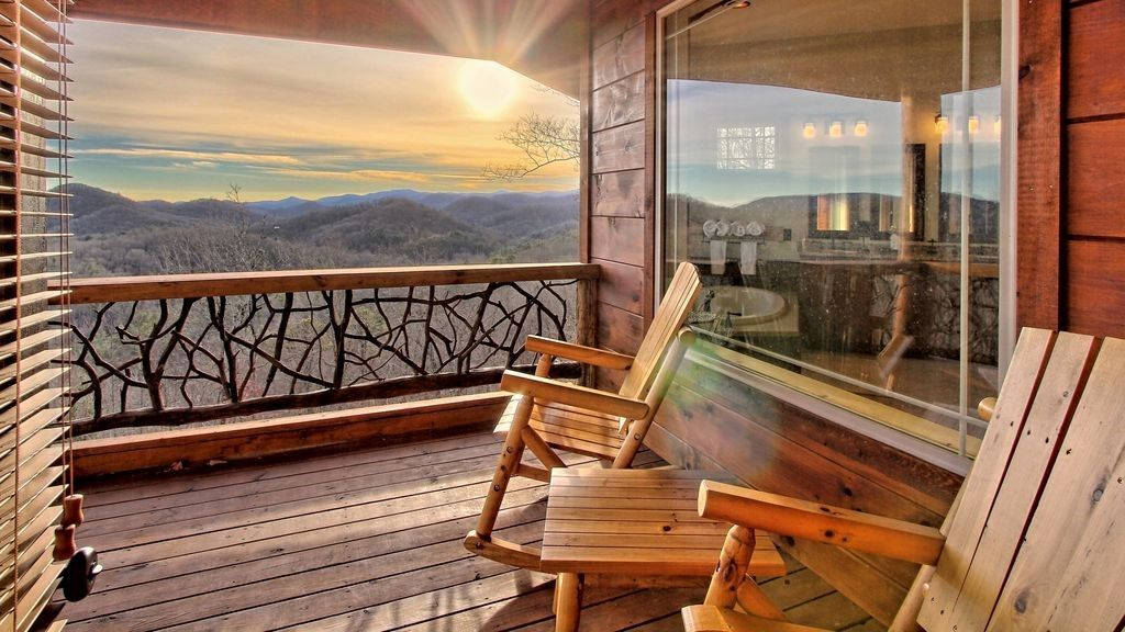 views from Georgia cabin and one of the best fall glamping destinations