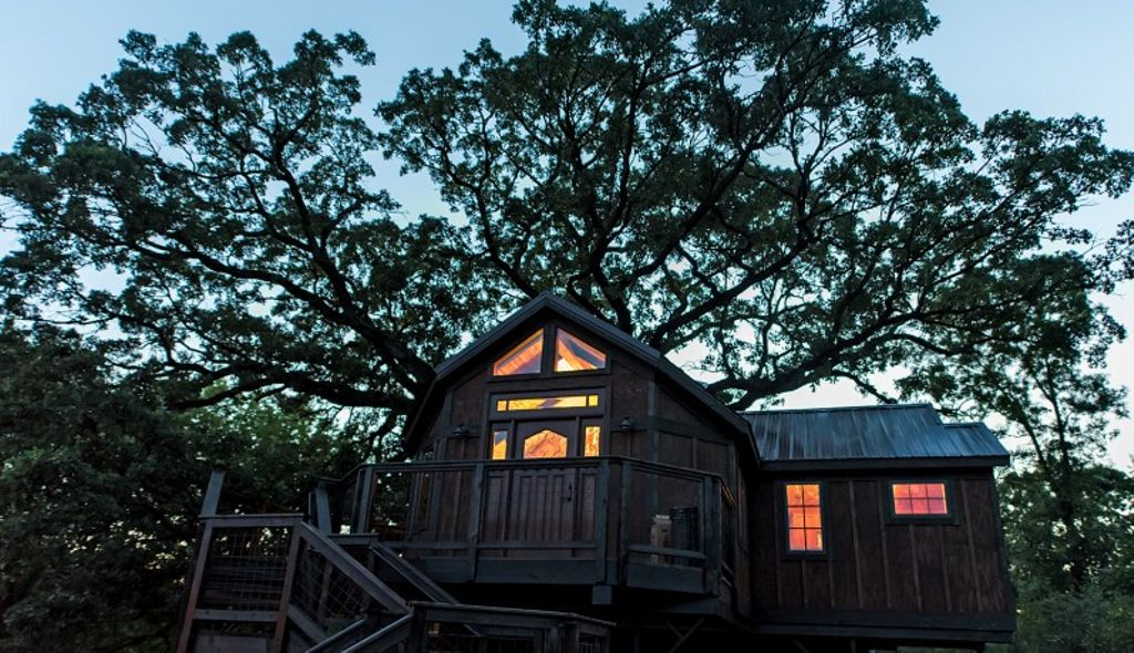 A cabin in the woods for a spooky weekend getaway from Minneapolis.