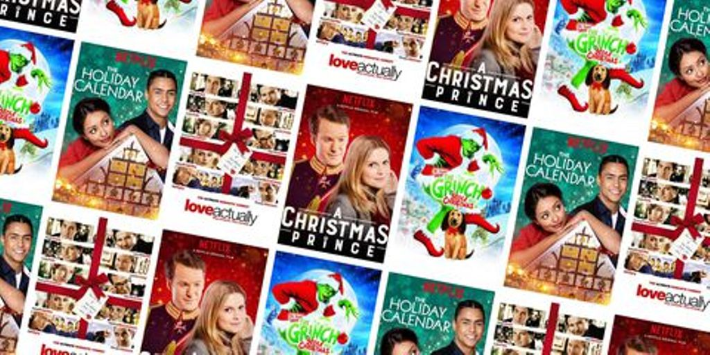 Montage of the best Christmas movies for guests to watch during the holidays when glamping