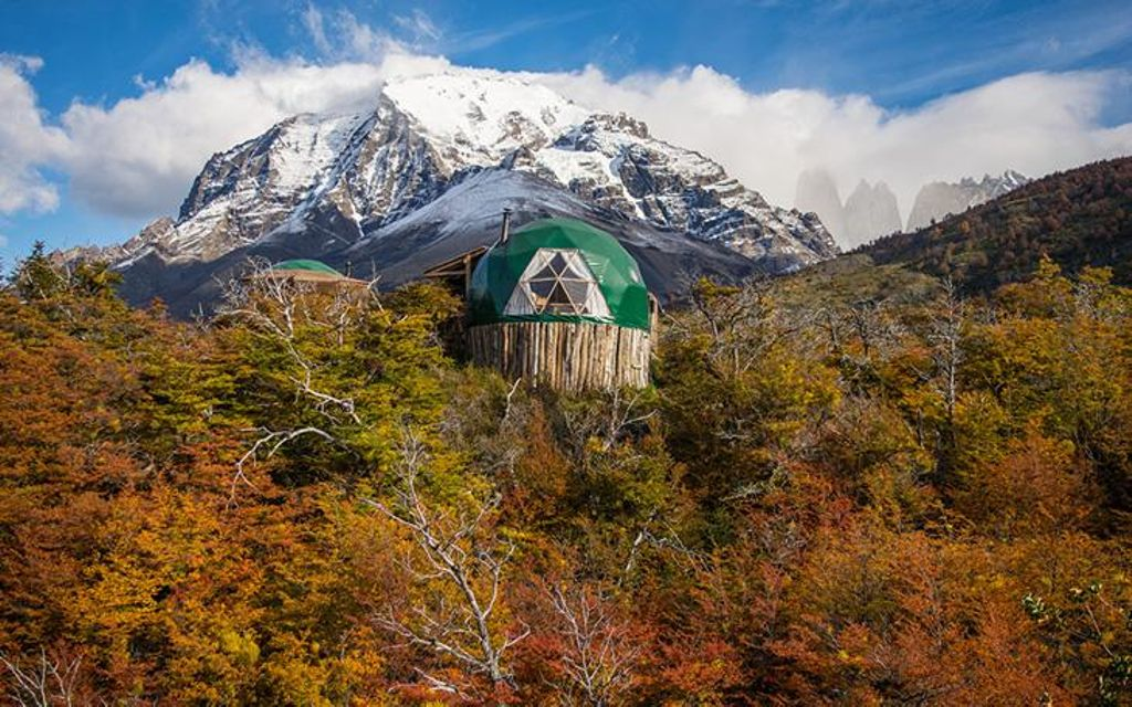Patagonia rental resting on hill top and one of the best vacation spots to visit in the world in 2020