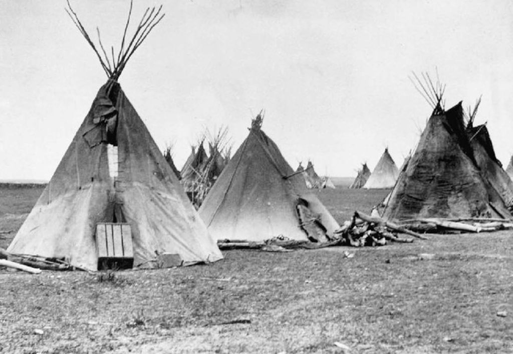 Tipis from the great plains in North America