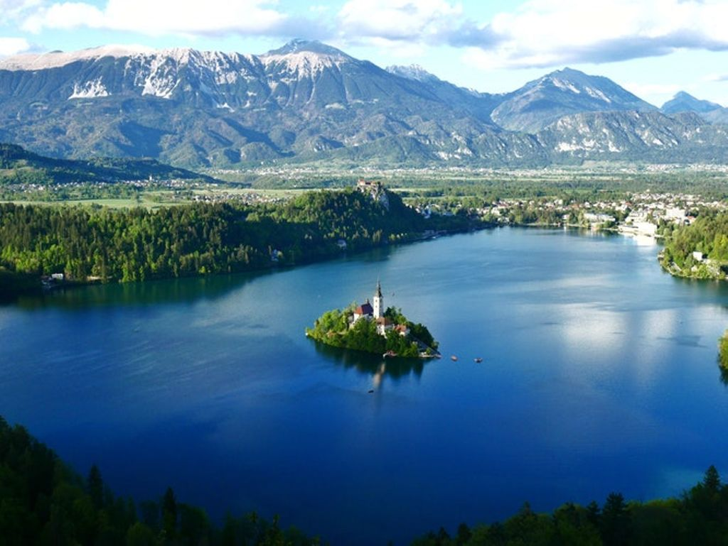 Glamping on Lake Bled as a spring vacation idea in  Slovenia.