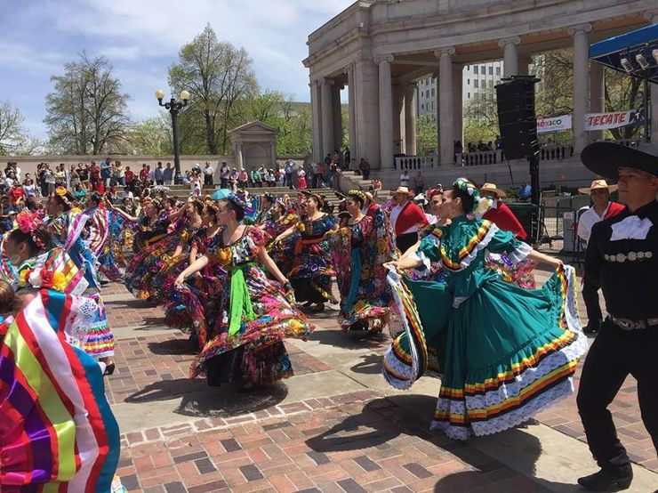 people celebrating cinco de mayo in denver, one of the best cities to visit in colorado