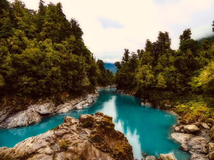 the stunning blue lakes in Fiordland National Park , New Zealand