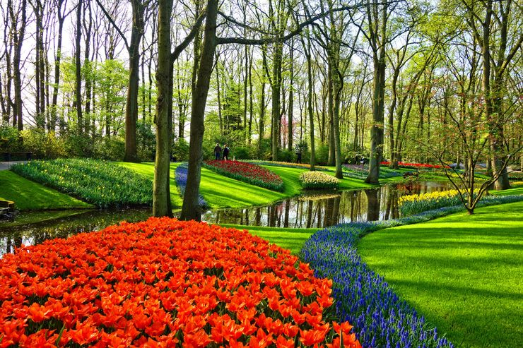 the beautiful garden of europe in the Netherlands