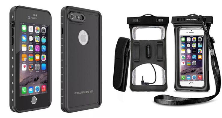image of one of the best waterproof phone case options for 2020 and camping in the rain