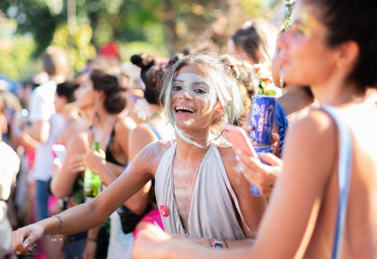 girl enjoying one of the best summer festivals nearby summer vacation rental
