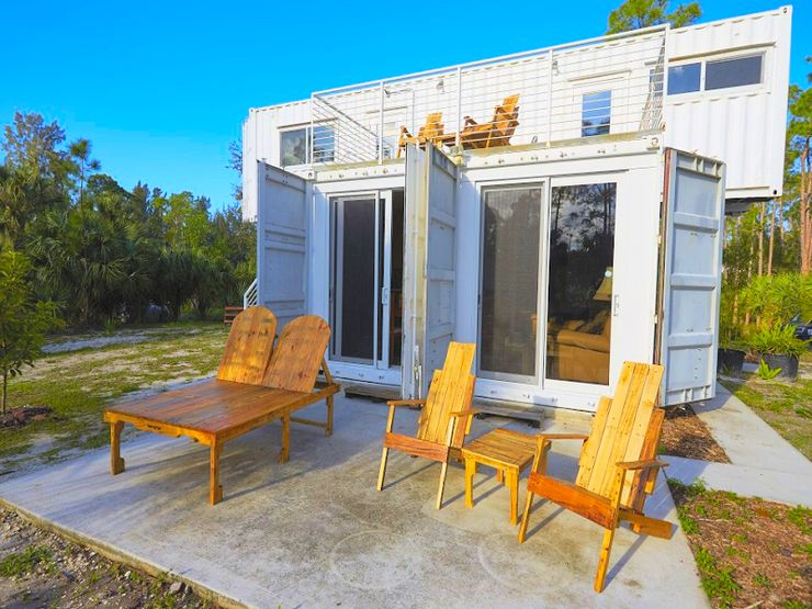 luxury Florida rentals upcycled from old shipping containers and example of how to upcycle in 2020