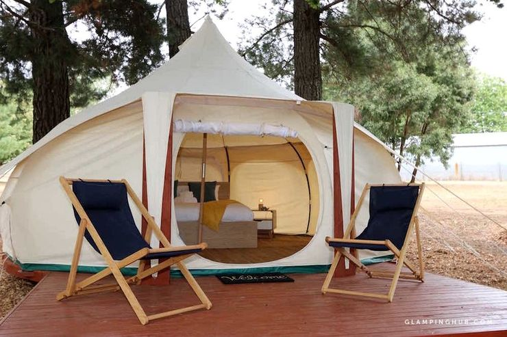Daylesford tents for rent near Melbourne perfect for winter getaways in Australia