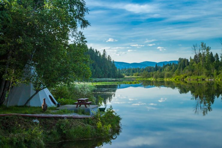 view from camping cabins USA has to offer, of yurt rental and life after quitting social media