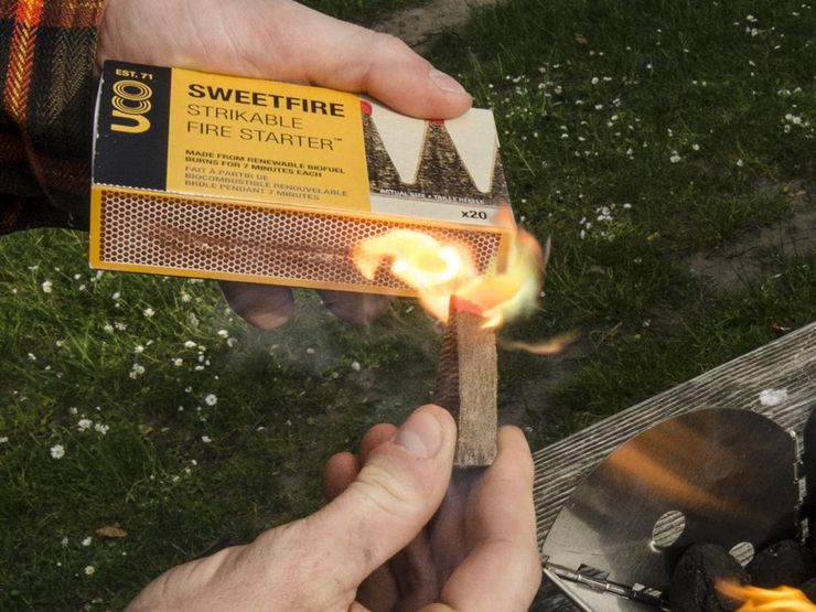 starting a fire while eco camping in the us