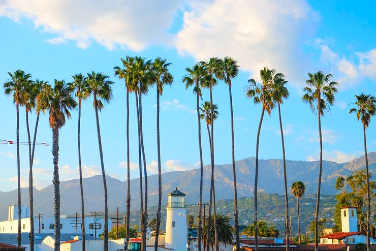 view from luxury rental CA in Santa Barbara, one of the countries that stay hot all year round