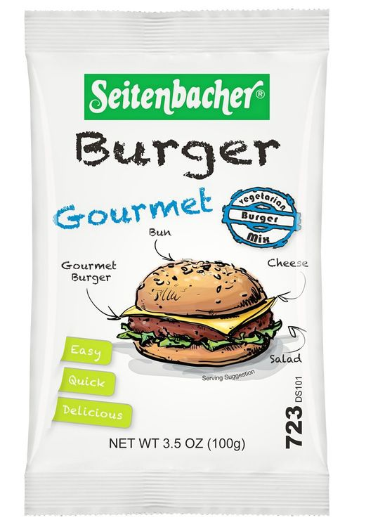 the seitenbacher burger and an example of food to take camping without fridge access